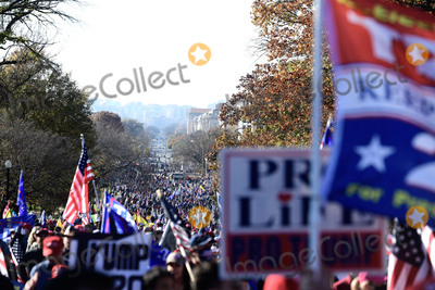 Supremes Photo - Participants in the pro-Trump MAGA rally march up Constitution Avenue Northeast from Freedom Plaza to the United States Supreme Court in Washington DC on Saturday November 14 2020Credit Rod Lamkey  CNPAdMedia