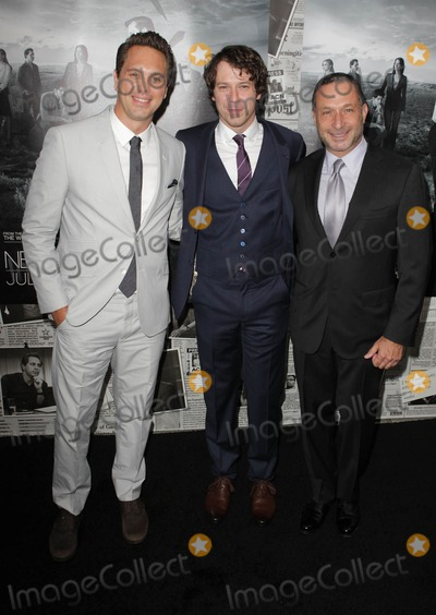 Alan Poul Photo - 10 July 2013 - Hollywood California - Thomas Sadoski John Gallagher Jr Alan Poul Los Angeles Season 2 Premiere Of HBOs Series The Newsroom Held At Paramount Studios lot Photo Credit Kevan BrooksAdMedia
