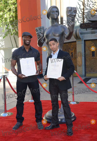 Aldis Hodge Photo - 26 January  - Hollywood Ca - Aldis Hodge Neil Brown Jr SAG Awards Actor visits Hollywoods TCL Chinese Theater with SAG Awards nominees Aldis Hodge and Neil Brown Jr held at TCL Chinese Theater  Photo Credit Birdie ThompsonAdMedia