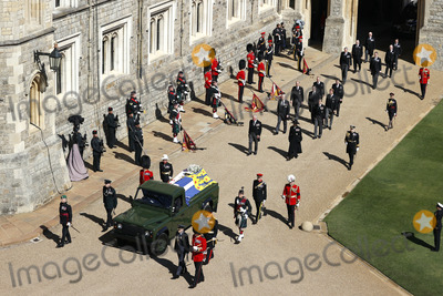 Princess Anne Photo - Photo Must Be Credited Alpha Press 073074 17042021Princess Anne Princess Royal Prince Charles Prince of Wales Prince Andrew Duke of York Prince Edward Earl of Wessex Prince William Duke of Cambridge Peter Phillips Prince Harry Duke of Sussex Lord Viscount Linley Earl of Snowdon David Armstrong-Jones Viscount Lord David Linley and Vice-Admiral Sir Timothy Laurence follow Prince Philip Duke of Edinburghs coffin on a modified Jaguar Land Rover during the funeral of Prince Philip Duke of Edinburgh at St Georges Chapel in Windsor Castle in Windsor Berkshire No UK Rights Until 28 Days from Picture Shot Date AdMedia