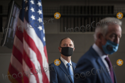 Adam Schiff Photo - United States Representative Adam Schiff (Democrat of California) left and US Representative Richard Neal (Democrat of Massachusetts) right join in a press conference on reforms package at the US Capitol in Washington DC Wednesday September 23 2020 Credit Rod Lamkey  CNPAdMedia