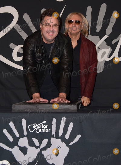 Joe Walsh Photo - 04 February  - Hollywood Ca - Vince Gill Joe Walsh Vince Gill induction into Guitar Centers Historic Rockwalk held at Guitar Center Photo Credit Birdie ThompsonAdMedia