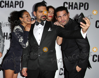 Alejandro Aguilar Photo - 19 April 2017 - Los Angeles California - Tete Espinoza Alejandro Aguilar Juliette Pardau and Marco De La O Univisions El Chapo Original Series Premiere Event held at The Landmark Theatre Photo Credit AdMedia