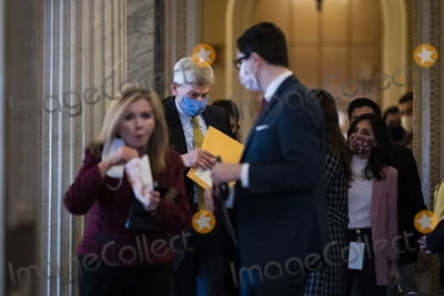Cassidy Photo - WASHINGTON DC - FEBRUARY 12 Sen Bill Cassidy R-La walks to the Senate Reception room on the fourth day of the Senate Impeachment trials for former President Donald Trump on Capitol Hill on Friday Feb 12 2021 in Washington DC Credit Jabin Botsford  Pool via CNPAdMedia