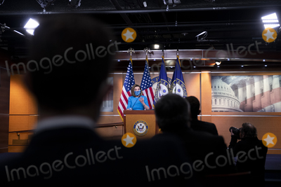 The Unit Photo - Speaker of the United States House of Representatives Nancy Pelosi (Democrat of California) offers remarks during her weekly press conference at the US Capitol in Washington DC Thursday April 22 2021 Credit Rod Lamkey  CNPAdMedia