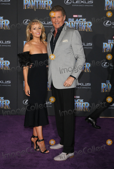 Hayley Roberts Photo - 29 January 2018 - Hollywood California - David Hasselhoff Hayley Roberts Marvel Studios Black Panther World Premiere held at Dolby Theater Photo Credit F SadouAdMedia