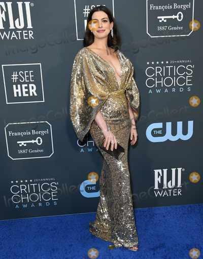 Anne Hathaway Photo - 12 January 2020 - Santa Monica California - Anne Hathaway 25th Annual Criticis Choice Awards held at Barker Hangar Photo Credit Birdie ThompsonAdMedia