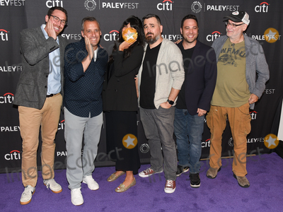 Ben Newmark Photo - 13 September 2019 - Beverly Hills California - (L-R) Dan Newmark Joe Gatto Jameela Jamil Brian Quinn Ben Newmark and Andy Breckman The Misery Index at The Paley Center For Medias 13th Annual PaleyFest Fall TV Previews - TBS Photo Credit Billy BennightAdMedia