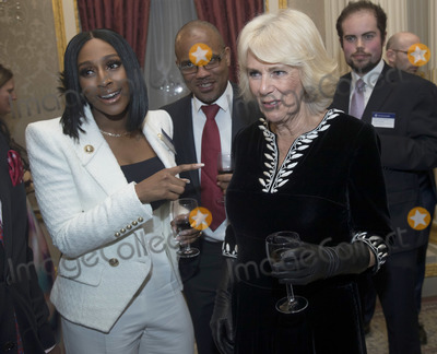 Alexandra Burke Photo - 09032020 - Camilla Duchess of Cornwall with Alexandra Burke at the Commonwealth Day Reception at Marlborough House  in London Photo Credit ALPRAdMedia