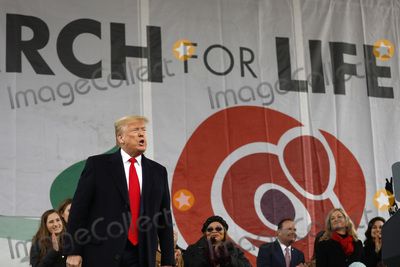 The National Photo - United States President Donald J Trump greets people at the 47th annual March for Life on the National Mall in Washington DC on January 24 2020 Credit Yuri Gripas  Pool via CNPAdMedia