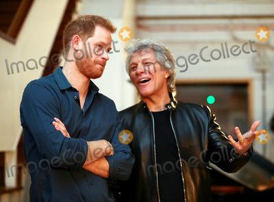 Jon Bon Jovi Photo - 03032020 - Jon Bon Jovi and Prince Harry at Abbey Road Studios In London Photo Credit ALPRAdMedia