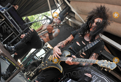 Ashley Purdy Photo - 20 July 2011 - Cleveland OH - Bassist ASHLEY PURDY and guitarist JAKE PITTS of the band BLACK VEIL BRIDES performs on a stop of the Vans Warped Tour 2011 held at the Blossom Music Center  Photo Credit Jason L NelsonAdMedia