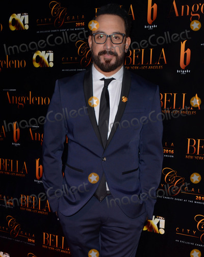AJ MCLEAN Photo - 15 February 2016 - Beverly Hills California - AJ McLean Arrivals for the 2016 City Gala held at The Playboy Mansion Photo Credit Birdie ThompsonAdMedia