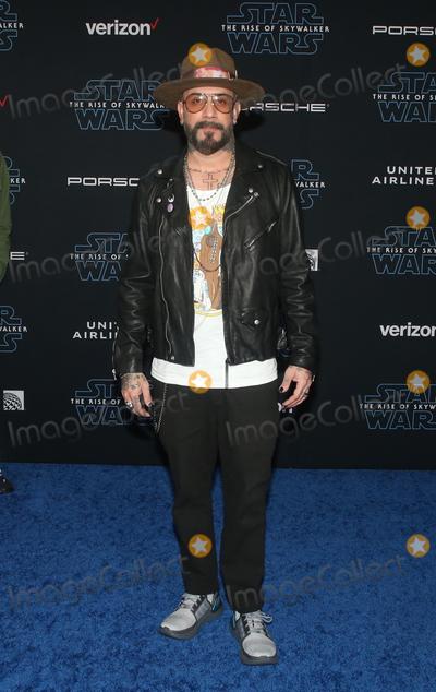 AJ MCLEAN Photo - 16 December 2019 - Hollywood California - AJ McLean Premiere Of Disneys Star Wars The Rise Of Skywalker  held at El Capitan theatre Photo Credit FSAdMedia