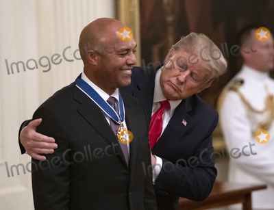 Mariano Rivera Photo - United States President Donald J Trump presents the Presidential Medal of Freedom to former New York Yankee closer Mariano Rivera in the East Room of the White House in Washington DC on Monday September 16 2019  Rivera is a member of the Major League Baseball Hall of Fame Credit Ron SachsCNPAdMedia