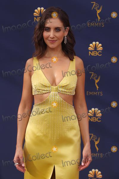 Alison Brie Photo - 17 September 2018 - Los Angles California - Alison Brie 70th Primetime Emmy Awards held at Microsoft Theater LA LIVE Photo Credit Faye SadouAdMedia