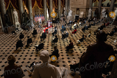 Alcee Hastings Photo - Lawmakers attend a ceremony honoring the life of the late US Representative Alcee Hastings (Democrat of Florida) in Statuary Hall of the Capitol in Washington DC on April 21st 2021Credit Anna Moneymaker  Pool via CNPAdMedia
