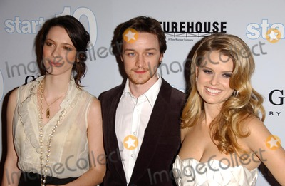 Alice Eve Photo - Rebecca Hall with James McAvoy and Alice Eveat the Los Angeles premiere of Starter for Ten Arclight Theatres Hollywood CA 02-06-07