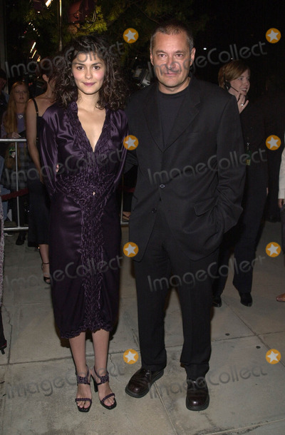 Audrey Tautou Photo -  AUDREY TAUTOU and JEAN-PIERRE JEUNET at the premiere of Miramaxs Amelie at the Academy of Motion Pictures Arts and Sciences Samuel Goldwyn Theater Beverly Hills 10-09-01