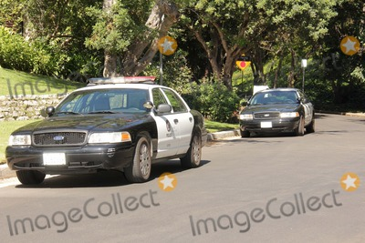 Casey Kasem Photo - Policeat a protest involving Casey Kasems children brother and friends who want to see him but have been denied any contact  Private Location Holmby Hills CA 10-01-13