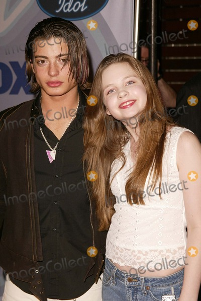 Andrew Lawrence Photo - Andrew Lawrence and Daveigh Chase at the American Idol Top 12 Finalists Pearl West Hollywood CA 03-10-04