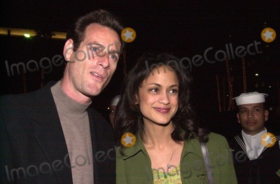 Anne Marie Photo -  Anne Marie Johnson and husband at the JAG 100th Episode Party Spago 02-07-00