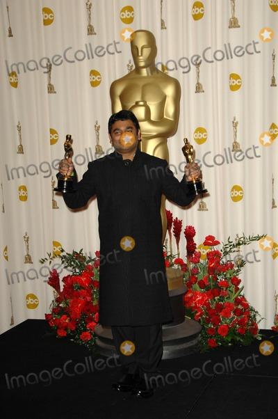 AR Rahman Photo - AR Rahman in the Press Room at the 81st Annual Academy Awards Kodak Theatre Hollywood CA 02-22-09