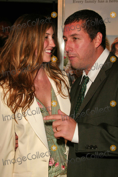 Adam Sandler Photo - Adam Sandler and wife Jackie at the Los Angeles Premiere of Columbia Pictures Spanglish at the Mann Village Theater in Westwood CA 12-09-04