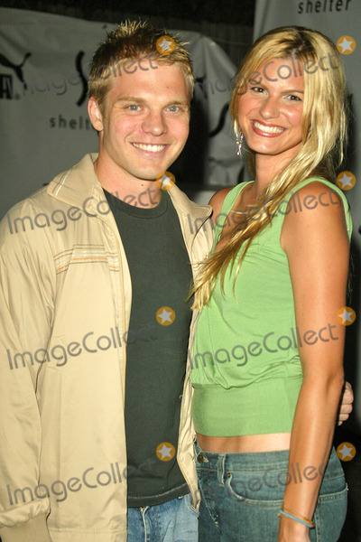 David Paetkau Photo - David Paetkau and date Amy at the PUMA Bodywear Launch Party at Shelter Supper Club West Hollywood CA 07-29-04