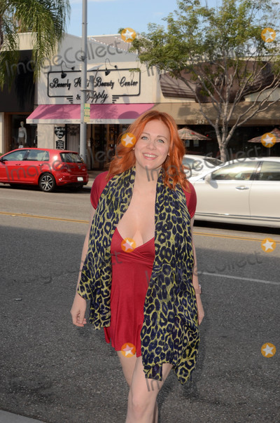 Johnny Carson Photo - Maitland Wardspotted showing a lot of cleavage in a tiny red dress after coloring her hair back to red and having a run-in with Johnny Carson Show regular guest comedian Billy Braver Beverly Hills CA 07-13-17