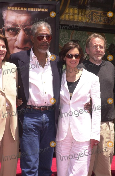 Ashley Judd Photo - Morgan Freeman and Ashley Judd at Freemans hand and foot print ceremony at the Chinese Theater Hollywood 06-05-02