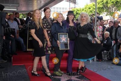 Belinda Carlisle Photo - Charlotte Caffey Belinda Carlisle Gina Schock Kathy Valentine and Jane Wiedlinat the Go-Gos induction into the Hollywood Walk of Fame Hollywood CA 08-11-11