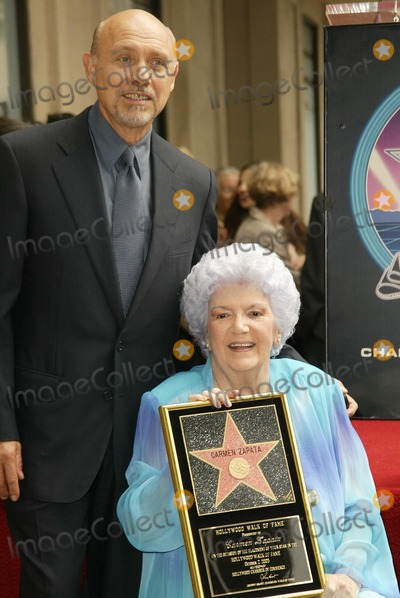 Carmen Zapata Photo - Carmen Zapata and Hector Elizondo at Zapatas induction ceremony into the Hollywood Walk of Fame Hollywood CA 10-02-03