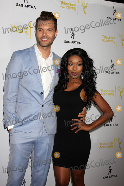 AJ Gibson Photo - AJ Gibson Porscha Colemanat the Dynamic  Diverse  A 66th Emmy Awards Celebration of Diversity Event Television Academy North Hollywood CA 11-12-14