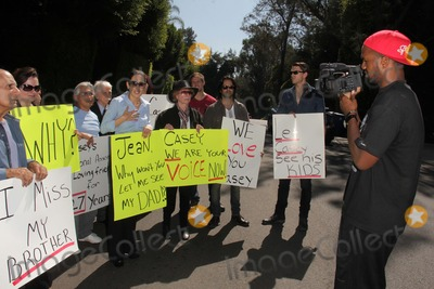 Casey Kasem Photo - Kerri Kasem speaks to the press with friends and family at her sideat a protest involving Casey Kasems children brother and friends who want to see him but have been denied any contact  Private Location Holmby Hills CA 10-01-13