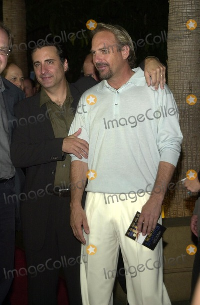 Andy Garcia Photo - Kevin Costner and Andy Garcia at the premiere of The Man From Elysian Fields at the Egyptian Theater Hollywood CA 09-23-02