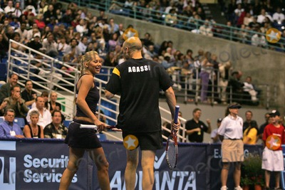 Andre Agassi Photo - Anna Kournikova and Andre Agassi at the 12th Annual World Team Tennis Smash Hits Benefiting the Elton John AIDS Foundation Bren Events Center Irvine CA 10-11-04