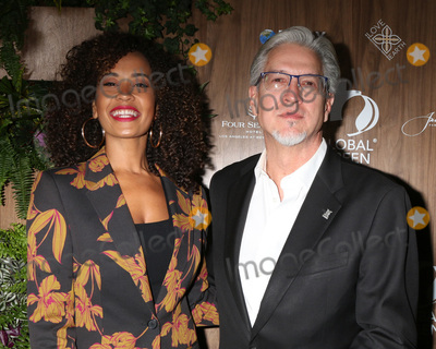 Michael Cain Photo - LOS ANGELES - FEB 20  Danni Washington Michael Cain at the Global Green 2019 Pre-Oscar Gala at the Four Seasons Hotel on February 20 2019 in Beverly Hills CA