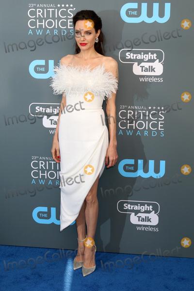 ANGELINA JOLIE Photo - LOS ANGELES - JAN 11  Angelina Jolie at the 23rd Annual Critics Choice Awards at Barker Hanger on January 11 2018 in Santa Monica CA