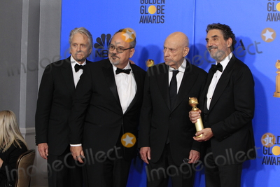 Al Higgins Photo - LOS ANGELES - JAN 6  Michael Douglas Al Higgins Alan Arkin Chuck Lorre at the 2019 Golden Globe Awards - Press Room at the Beverly Hilton Hotel on January 6 2019 in Beverly Hills CA