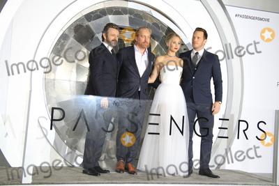 Jennifer Lawrence Photo - LOS ANGELES - DEC 14  Michael Sheen Morten Tyldum Jennifer Lawrence Chris Pratt at the Passengers Premiere at Village Theater on December 14 2016 in Westwood CA