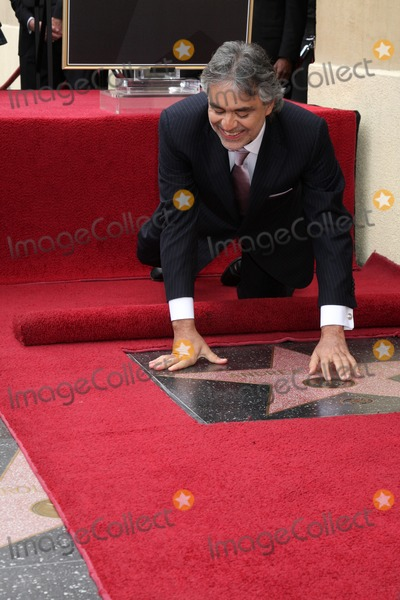 Andrea Bocelli Photo - Andrea Bocelli arriving at the Hollywood Walk of Fame Star Ceremony for Andrea BocelliRoosevelt HotelLos Angeles CAMarch 2 2010