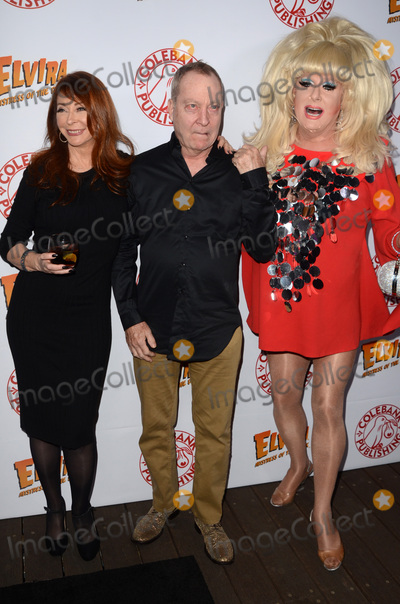 Cassandra Peterson Photo - LOS ANGELES - OCT 17  Cassandra Peterson Fred Schneider Lady Bunny at the Elvira Mistress Of The Dark Coffin Table Book Launch at Roosevelt Hotel on October 17 2016 in Los Angeles CA