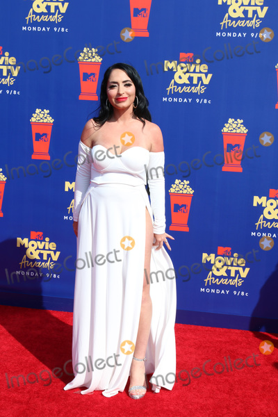Angelina Pivarnick Photo - LOS ANGELES - JUN 15  Angelina Pivarnick at the 2019 MTV Movie  TV Awards at the Barker Hanger on June 15 2019 in Santa Monica CA