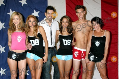 Andrew Christian Photo - Ashley Jones Kristen Renton Andrew Christian Christel Khalil Blake Berris  Lesli Kay posing for press photographers at the  Daytime For Obama photo shoot for an Andrew Christian ad for his Obama line of clothing at the the Andrew Christian Wolrd Headquarters in Glendale CA onAugust 15 20082008 Kathy Hutchins  Hutchins Photo