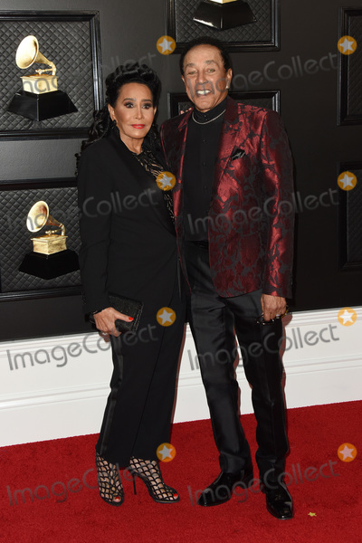 Smokey Robinson Photo - LOS ANGELES - JAN 26  Smokey Robinson wife at the 62nd Grammy Awards at the Staples Center on January 26 2020 in Los Angeles CA