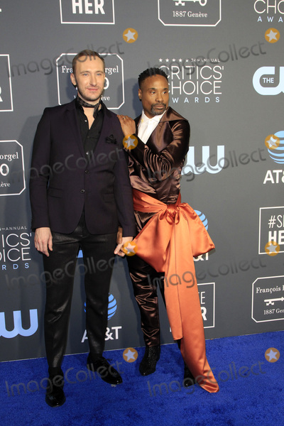 Adam Smith Photo - LOS ANGELES - JAN 13  Adam Smith Billy Porter at the Critics Choice Awards  at the Barker Hanger on January 13 2019 in Santa Monica CA