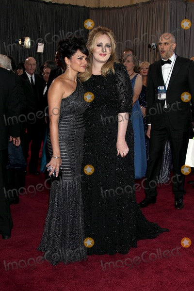 Adele Adkins Photo - LOS ANGELES - FEB 24  Nora Jones Adele Adkins arrives at the 85th Academy Awards presenting the Oscars at the Dolby Theater on February 24 2013 in Los Angeles CA