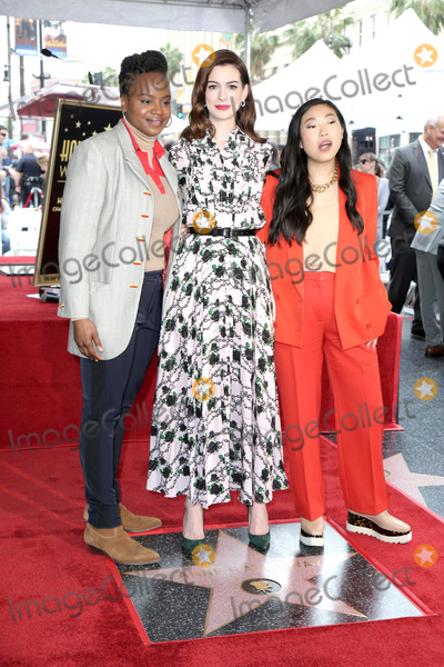 Ann Hathaway Photo - LOS ANGELES - MAY 9  Dee Rees Anne Hathaway Awkwafina at the Anne Hathaway Star Ceremony on the Hollywood Walk of Fame on May 9 2019 in Los Angeles CA