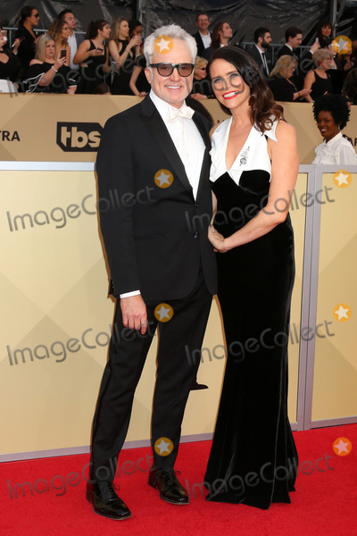 Amy Landecker Photo - LOS ANGELES - JAN 21  Bradley Whitford Amy Landecker at the 24th Screen Actors Guild Awards at Shrine Auditorium on January 21 2018 in Los Angeles CA